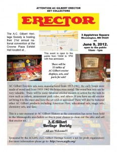 AC Gilbert Erector Set 21st Annual National Convention
