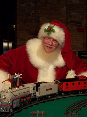 Santa at Night Trains
