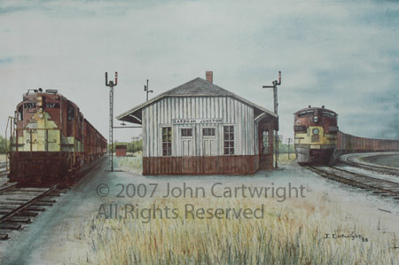 Cardigan Junction Depot by John Cartwright