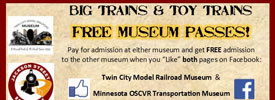 Big Trains & Toy Trains – Free Museum Passes!